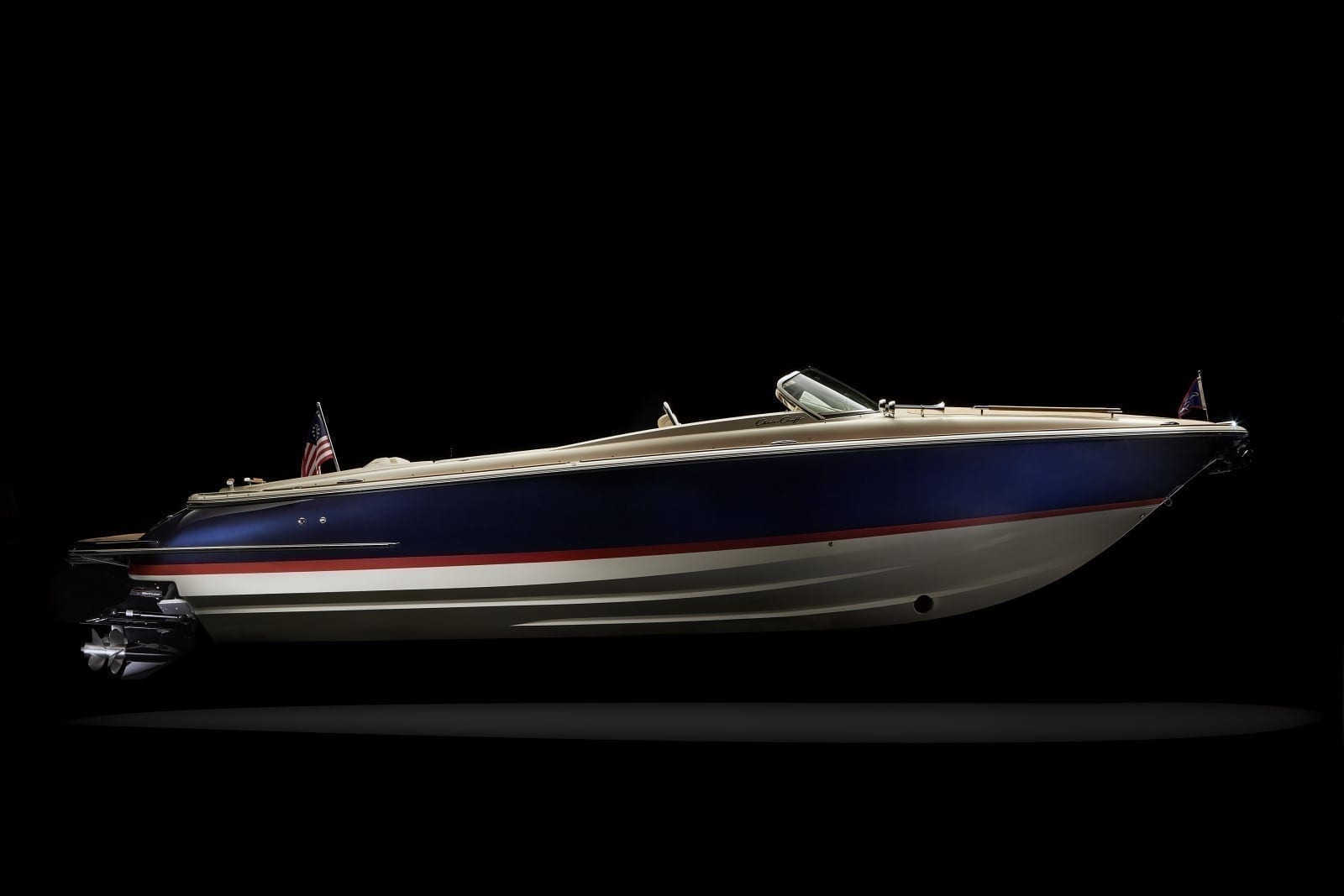 Chris Craft Corsair 30 Starboard Profile View