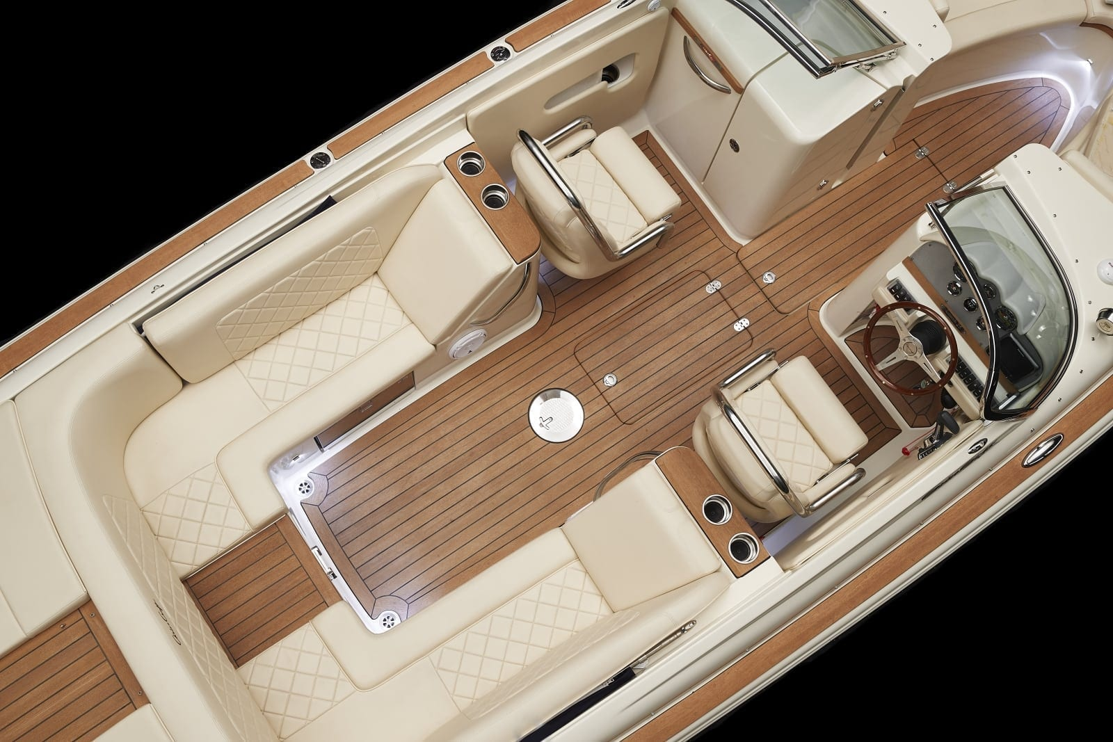 Chris Craft Launch 27 Seating Overhead View