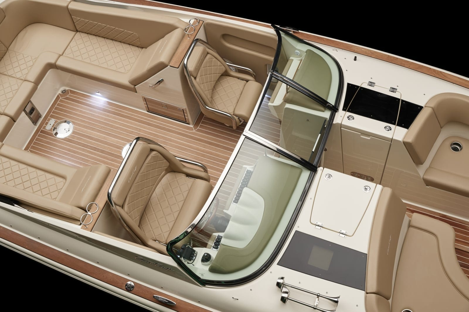 Chris Craft Launch 34 Captains Chair Overhead View