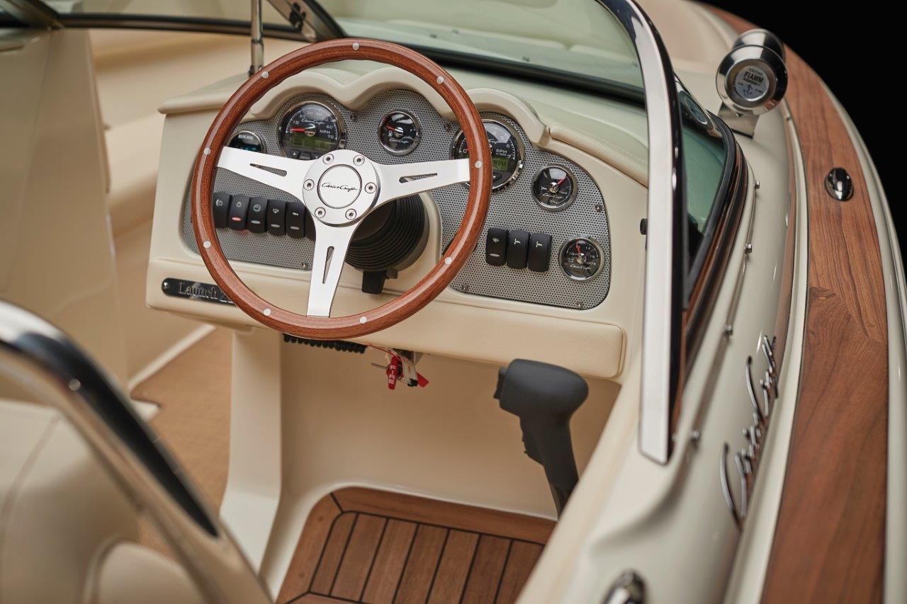Chris Craft Launch 22 Steering Wheel Gauges
