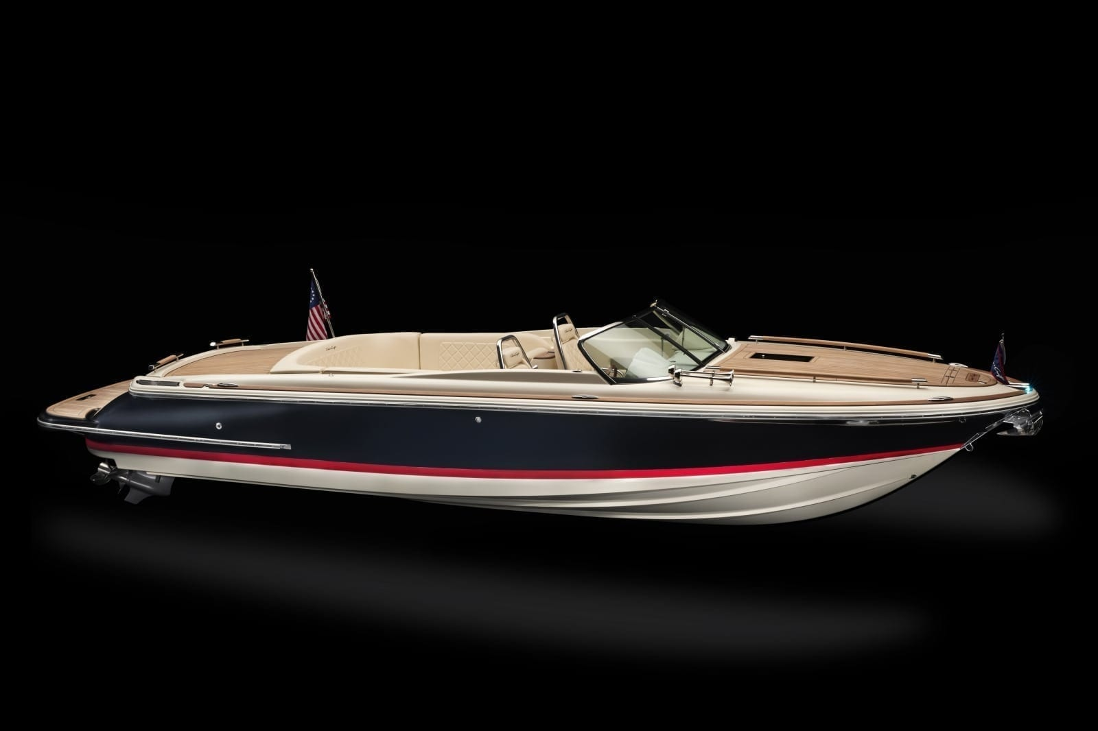 Chris Craft Corsair 27 Starboard Bow Profile