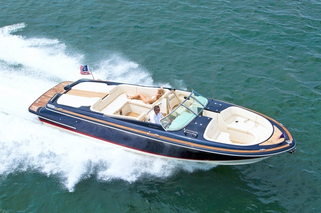 Chris Craft Launch 32 Overhead Shot