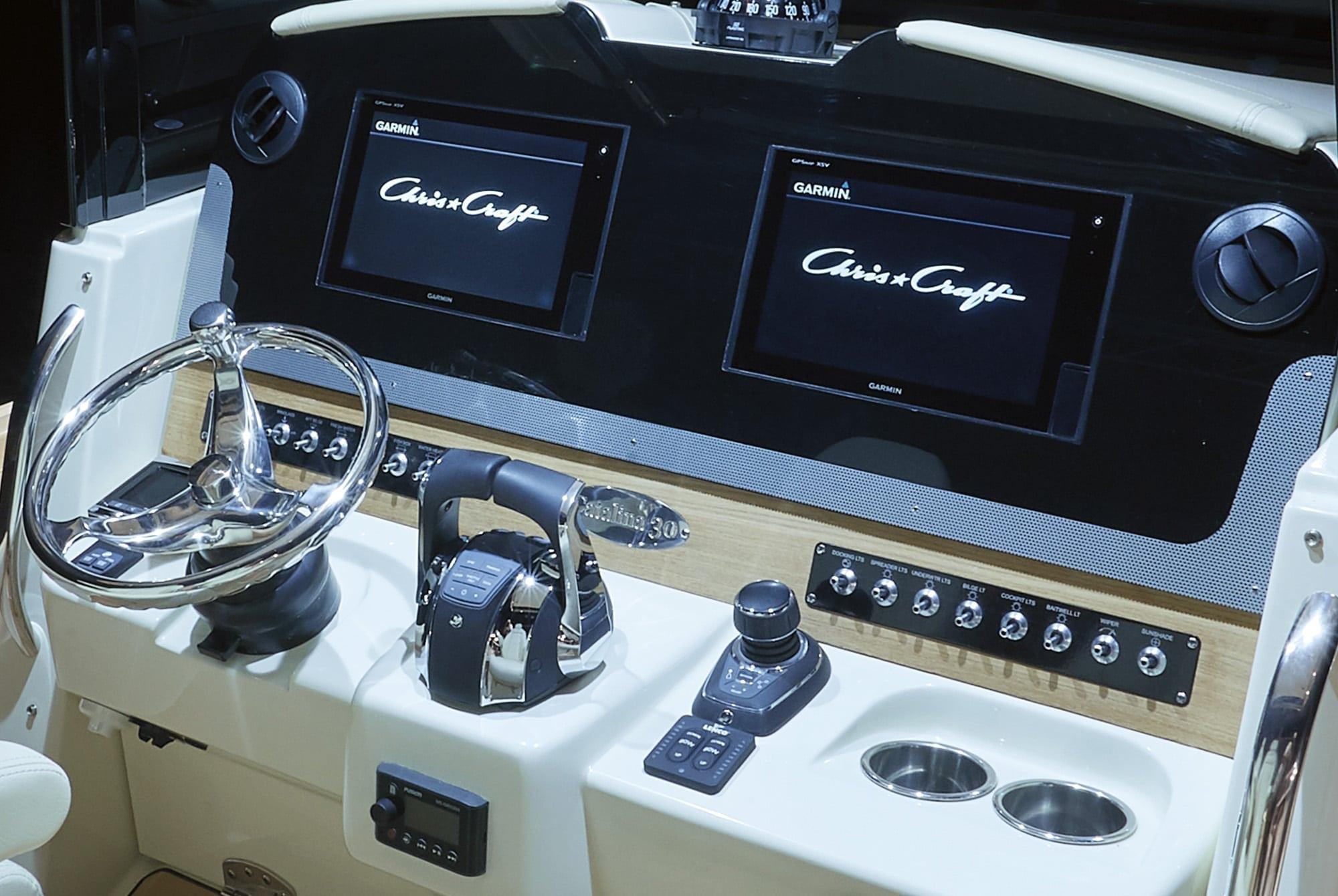 Chris Craft Catalina 29 Cockpit and Digital Gauges