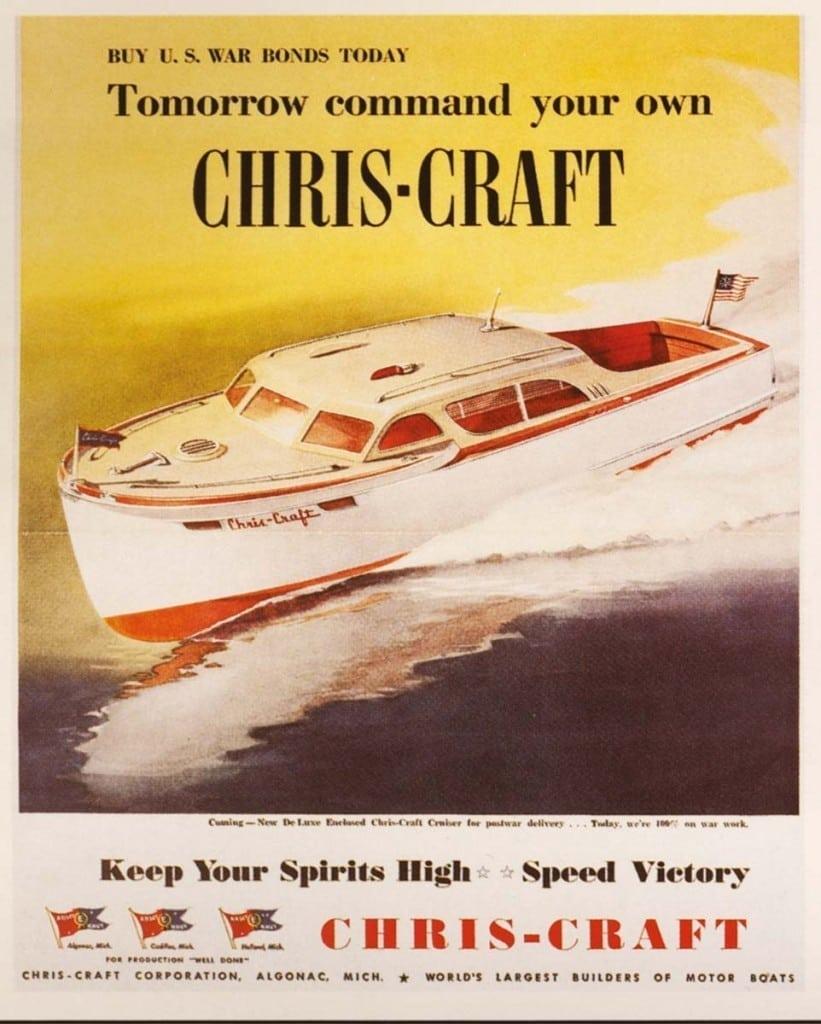 Chris Craft Historic War Poster - Buy War Bonds